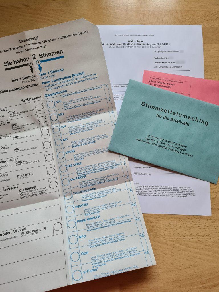 Read more about the article Briefwahlunterlagen erhalten – wie geht es weiter?